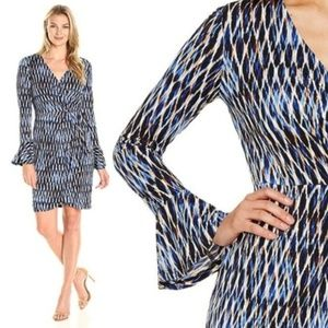 London Time Tina Faux Wrap Dress Size 16
